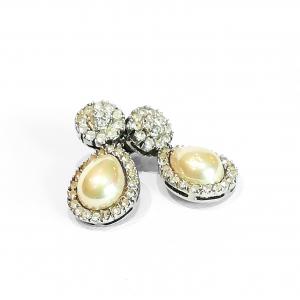 orecchini con zirconi e perla3