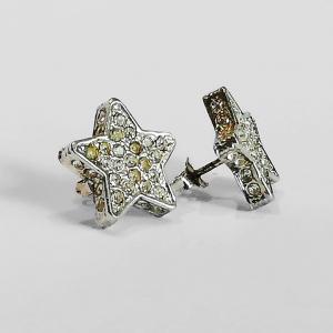 Orecchini a stella con zirconi bianchi